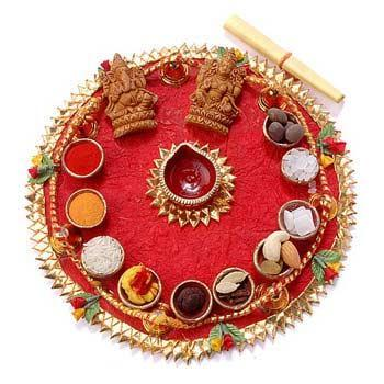 Wedding list in english for Aarti thali decoration with grains