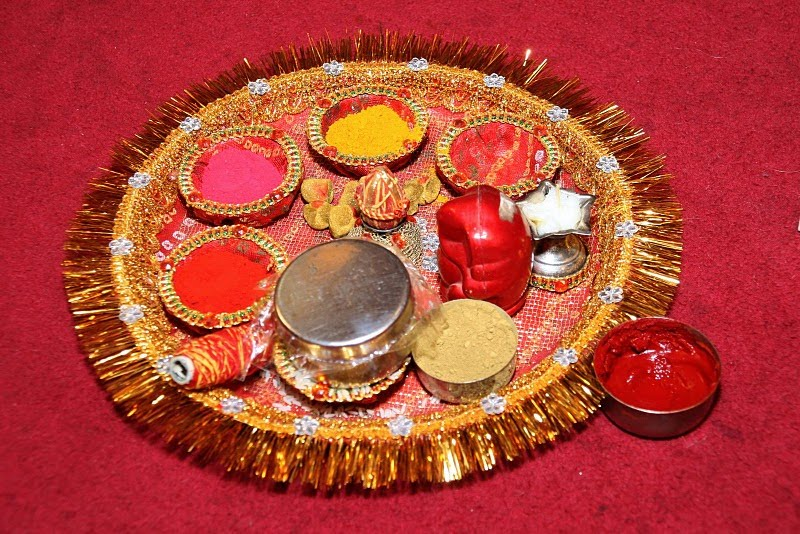 Ganesh pooja list for Aarti thali decoration ideas for ganpati
